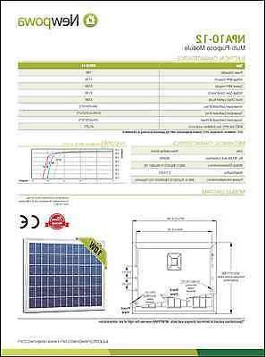 NewPowa 10W Poly RV Grid