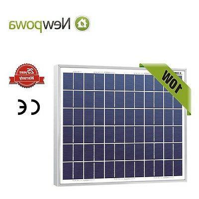10w watt 12v poly solar panel module