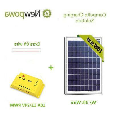 10w watt 12v solar panel module 10a