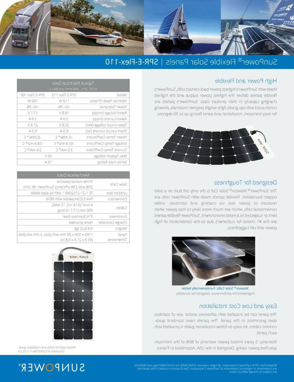SunPower® 100 Watt Solar Efficiency for