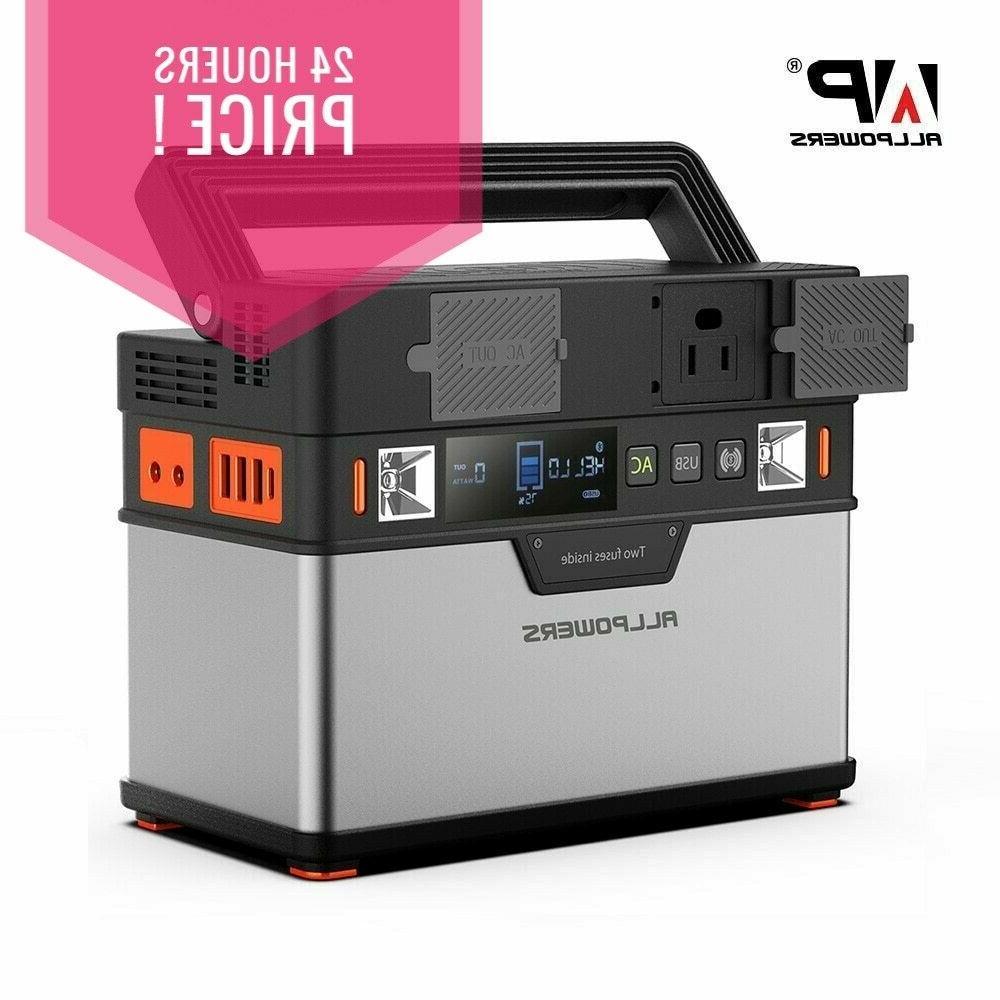 110v 100500mah portable generator 372wh power station
