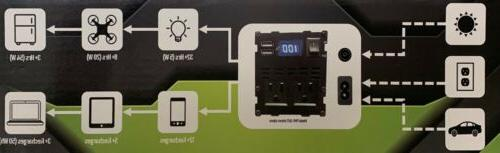 110V Portable power station with wall charger!support sola
