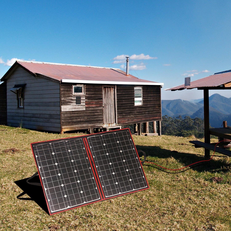110W Flexible Solar Panels Foldable Controller For Car Battery