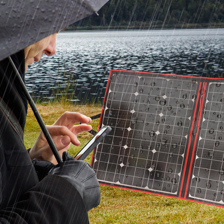 110W 18V Solar Panels Foldable Controller For Battery