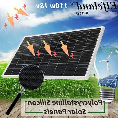 110W 18V Solar Panel Battery Charger 12V RV Car