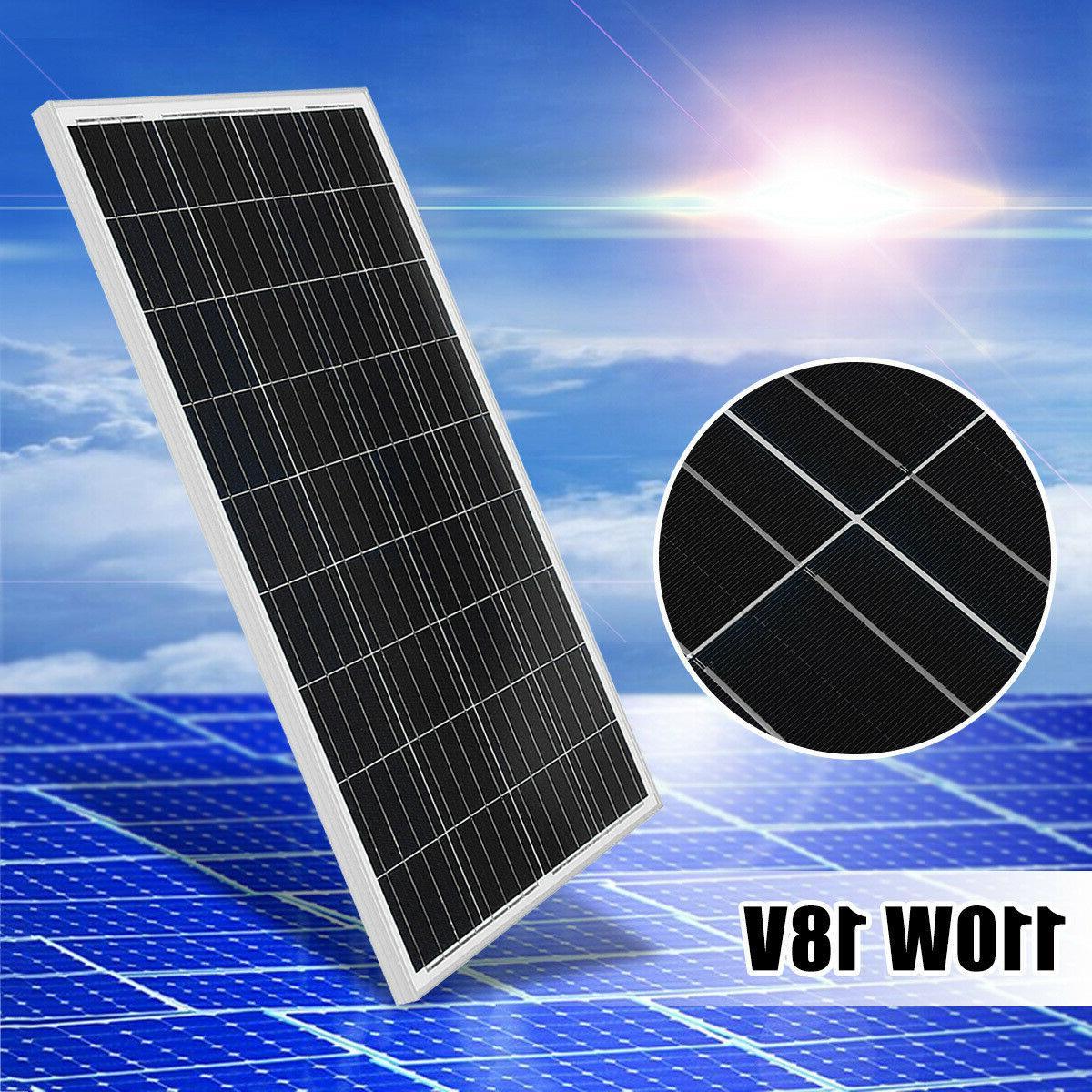 110w 18v poly solar panel module off