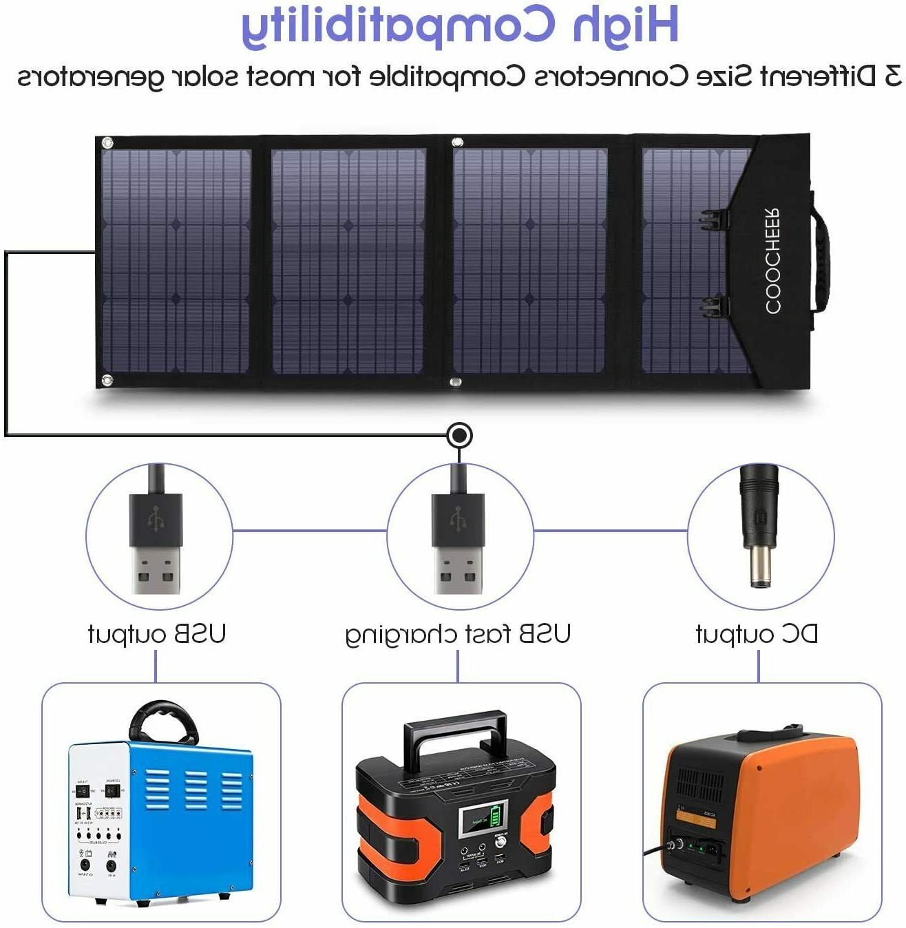 120W/60W Solar Charger Portable Solar Panel Power Station