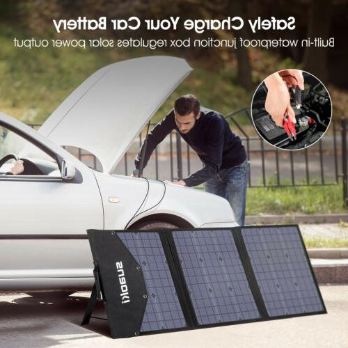 SUAOKI 120W Foldable Solar Panel Charger for Portable Power