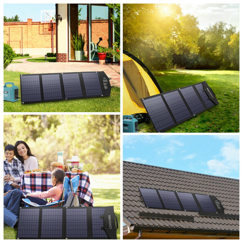 120W/60W Foldable Solar Panel Solar Charger Portable Solar P