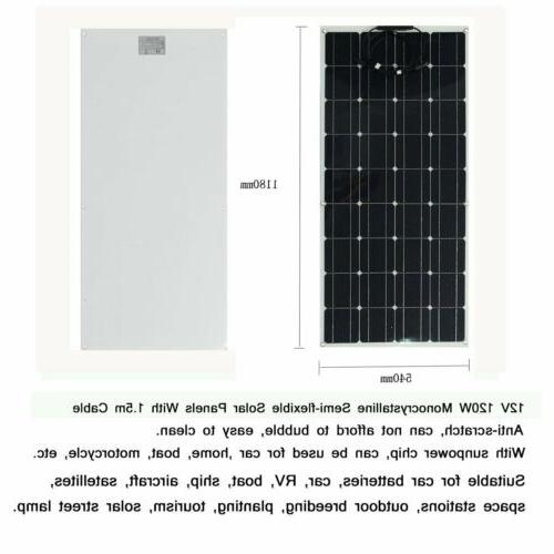 120W Solar Panel Monocrystalline Flexible For Camp Hiking TO