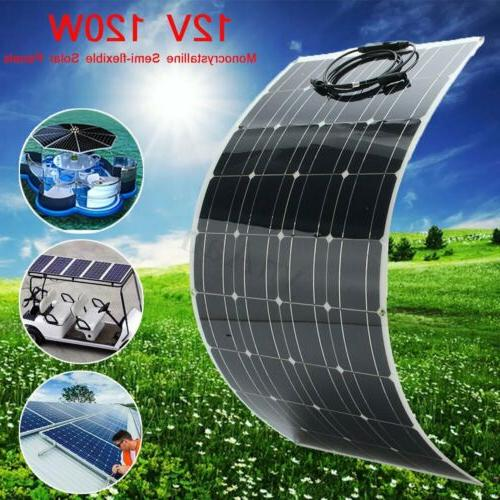 120w solar panel module monocrystalline flexible bendable