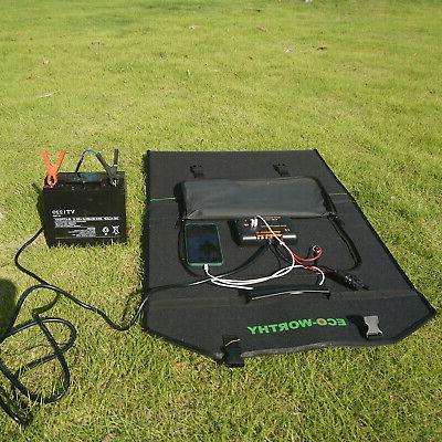 120W 12V Portable Solar Panel For Power Station,Battery