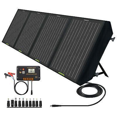 120w watt 12v foldable portable solar panel