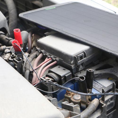 12V Solar Panel Battery Charger Backup for Car