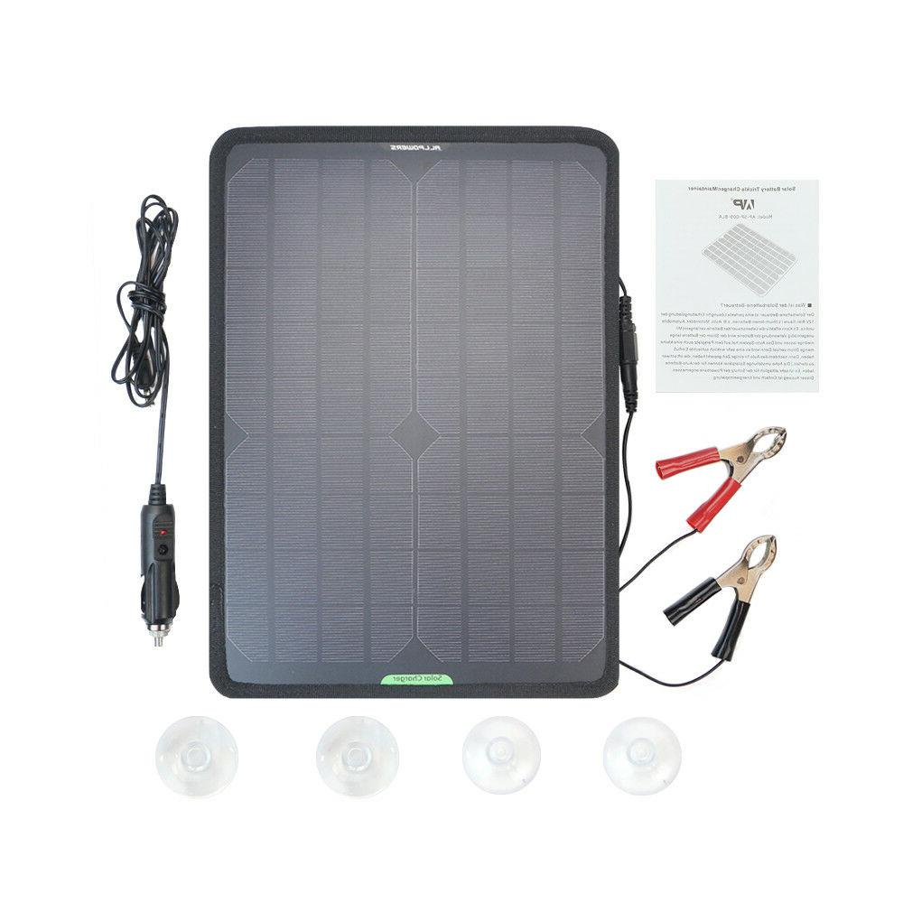 12v 10w portable solar panel power battery