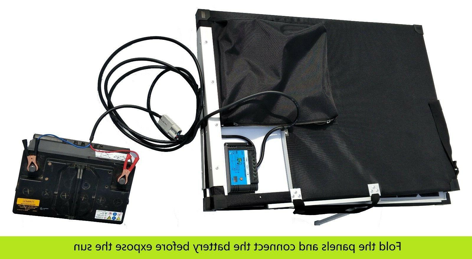 12V Folding solar panel Kit. to use. & Lithium