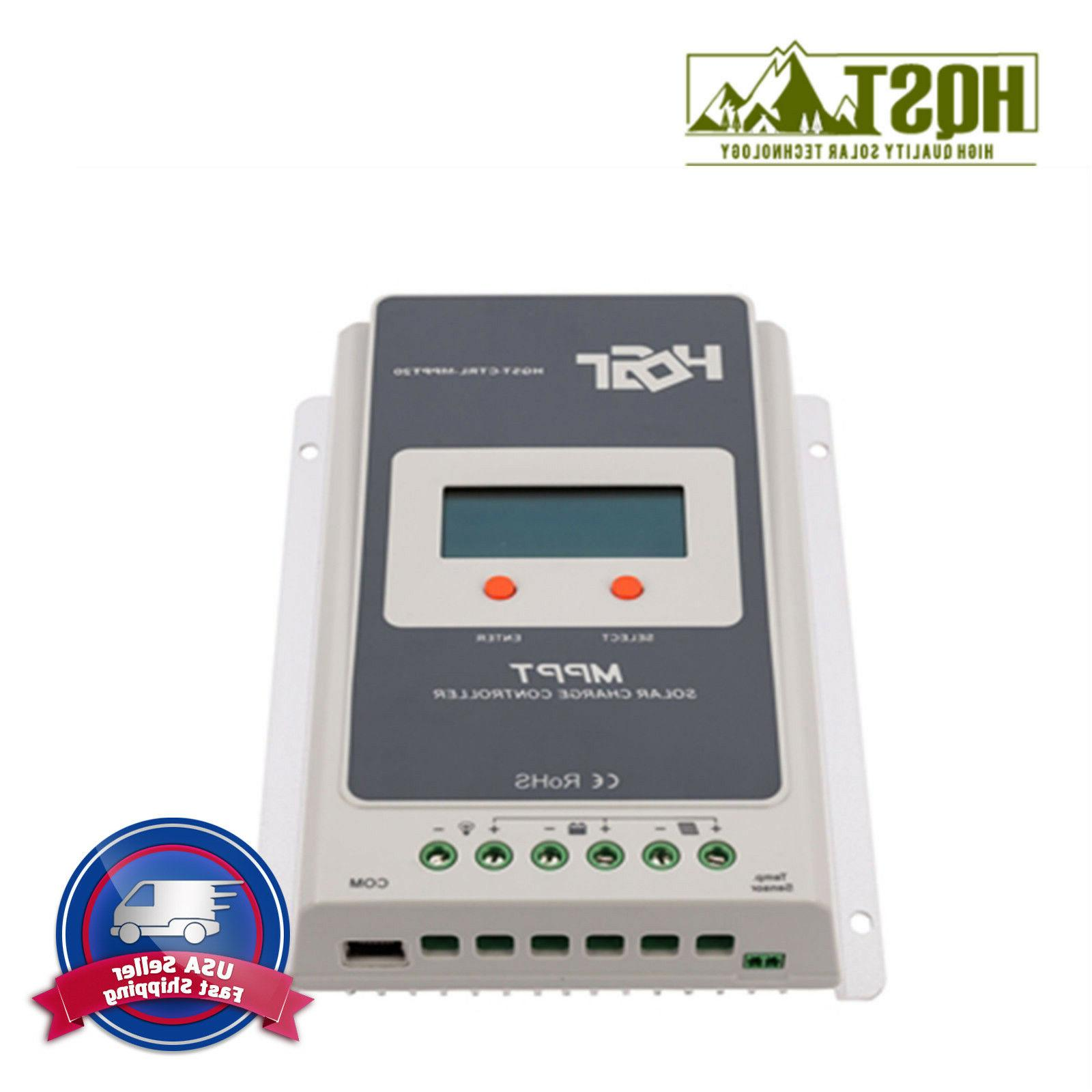 30A MPPT Charge Controller HQST Auto 12V 24V Solar Panel Bat