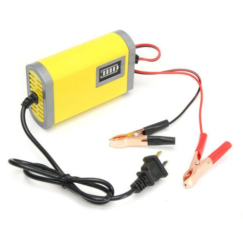 12V 2A Car Motorcycle Smart Battery Charger Yellow