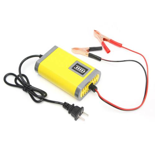 12V Car Smart Charger Yellow Color