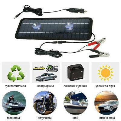12V 4.5W Motorcycle Solar Panels Boat Portable Smart Car Cha