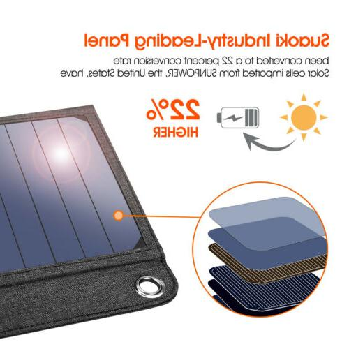 NEW Suaoki Charger with Solar Panels Smartphones
