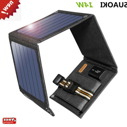 14w foldable solar charger with portable solar
