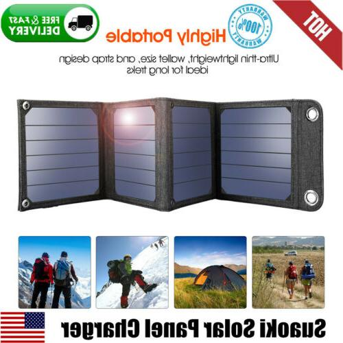 14w solar charger portable foldable 5v usb
