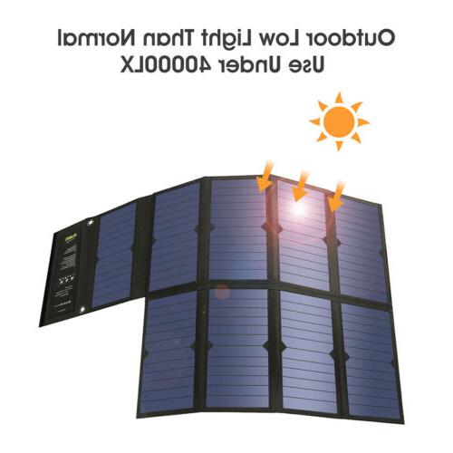 Suaoki Portable Solar Panel Charger Laptop