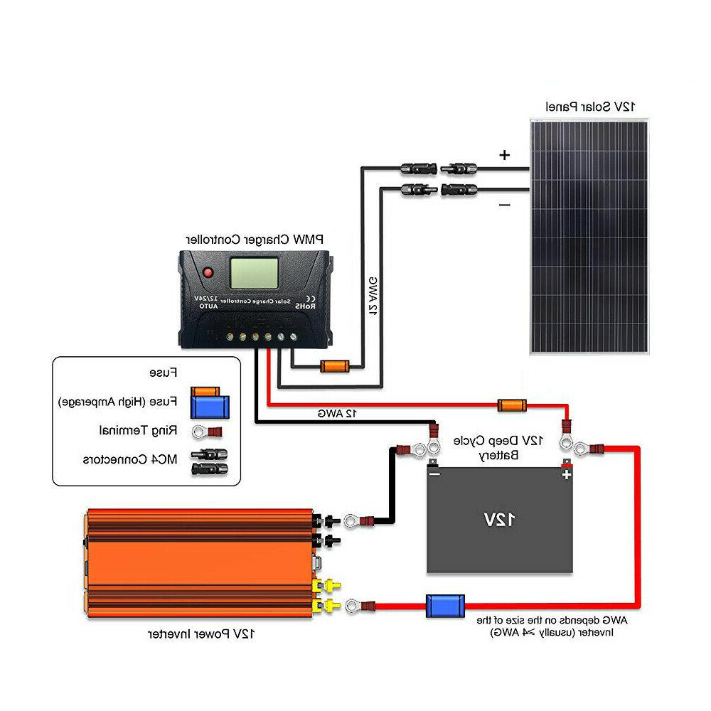 HQST 150W 300W Solar Panel 24V Power RV
