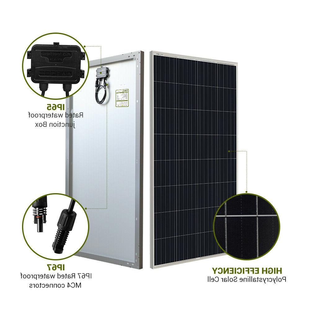HQST 300W Watt Solar Panel 12V Power RV Marine
