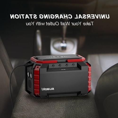 150Wh Suaoki Generator Supply Charge 3 USB LED Flashlight