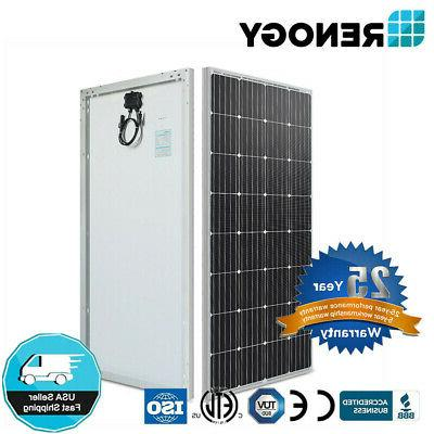 Renogy 160 Watt 12V Volt Monocrystalline Solar Panel 150W 16