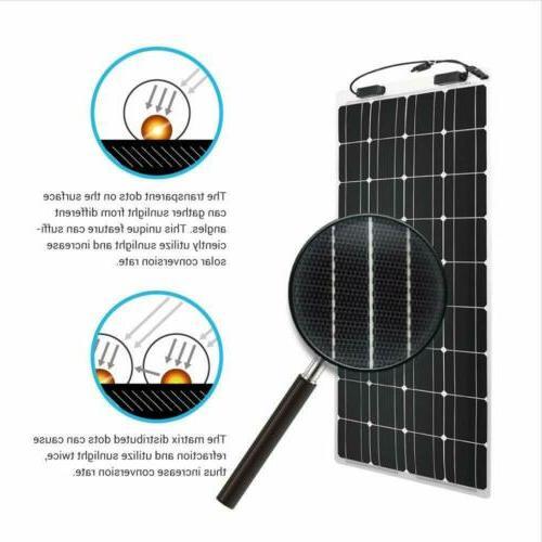 160 Extremely Flexible Monocrystalline Panel Ultra Lightweight