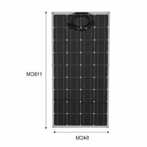 160W Newly Flexible Mono Solar 12V Battery RV 36Cells HO