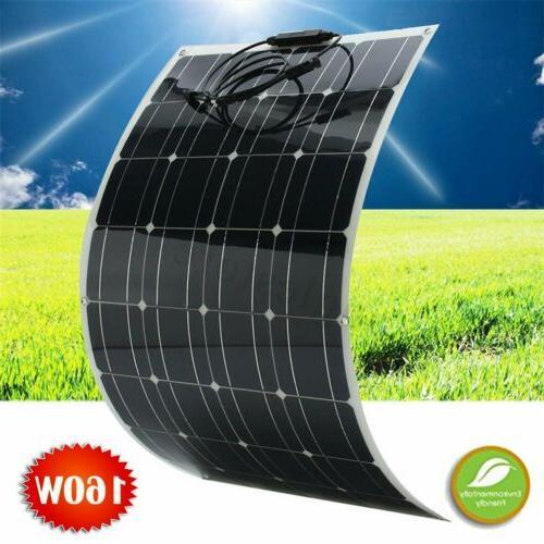 160w flexible monocrystalline mono solar panel off