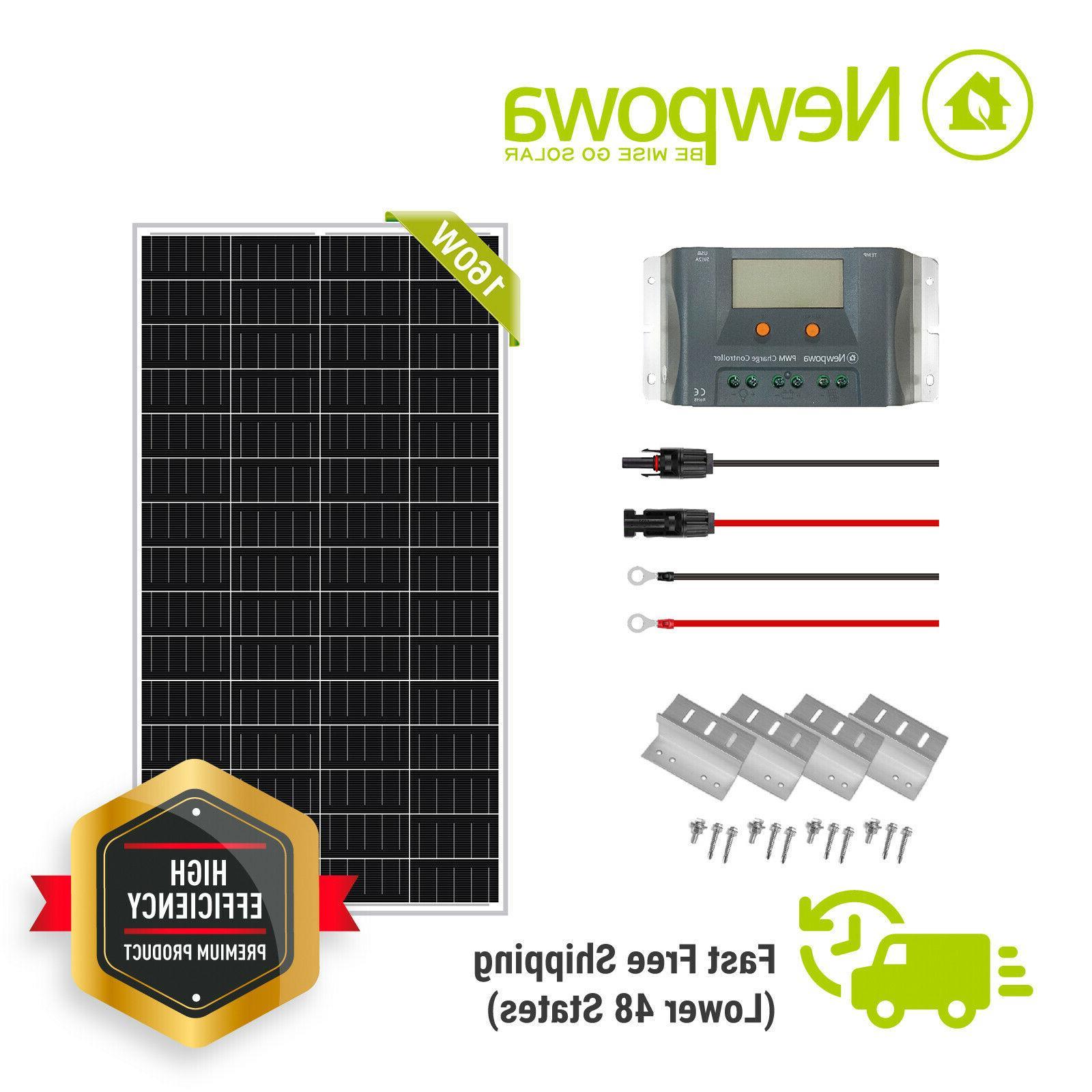 160w watt poly solar panel 12v battery