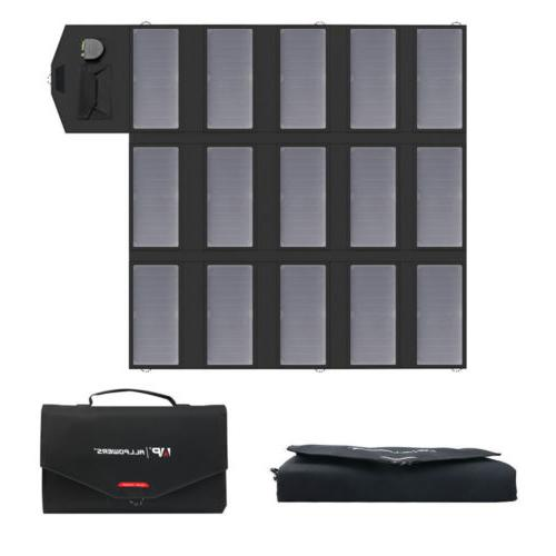 18V Foldable Solar Power 2USB Battery Charger For Phone