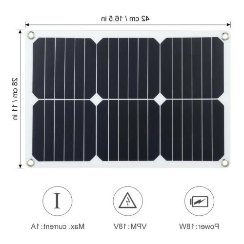 Suaoki 18V 18W Panel Solar Charger Waterproof Resistant