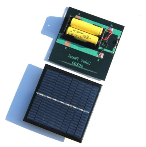 1W Rechargeable 2*AA Battery Solar