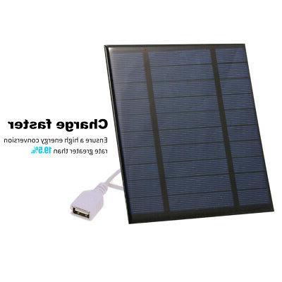 Solar Power Bank Panel phone Charger Portable Night Light US