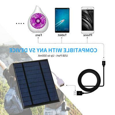 2.5W/5V With USB Port Solar Panel Phone Charger Portable