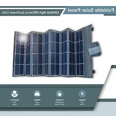 2 Foldable Solar with Generator for Camping, RV, and more