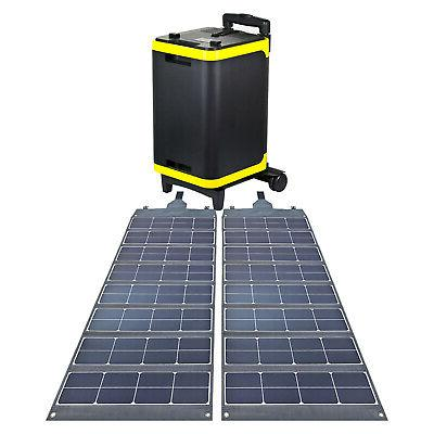 2 foldable solar panels with 2700wh solar