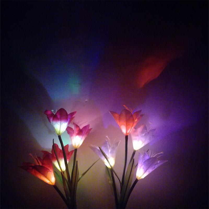 2 Pack LED Flowers Solar Stake