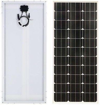 2 100 Watt 12 Volt Monocrystalline Solar