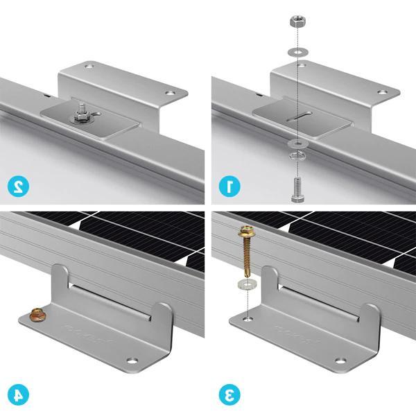 Renogy 2 Solar Mounting Brackets Panel