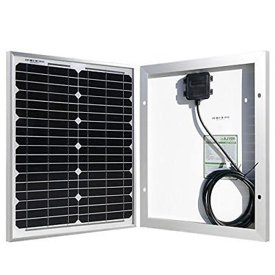 20 watt 12 volt monocrystalline solar panel