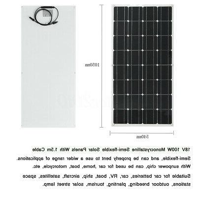 200/240W 18V Mono Solar Panel For 12V Boat