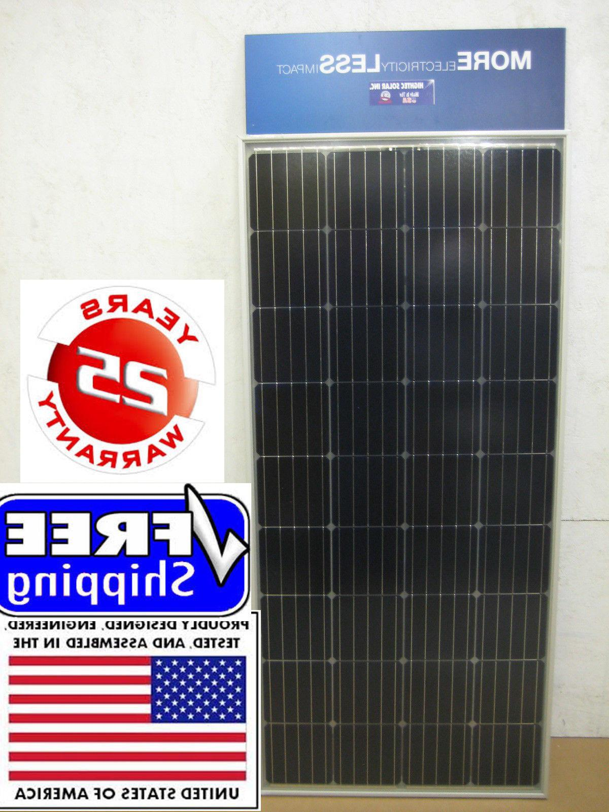 200+25% Watt 12 Volt Solar Panel Off Grid RV Boat highest po