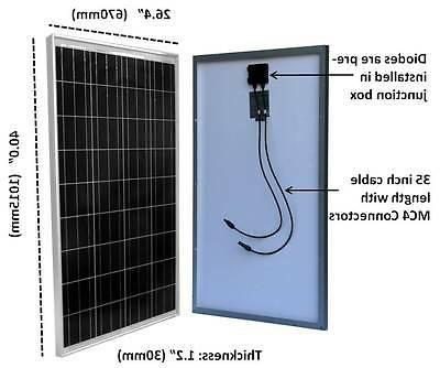 200 200W Solar Panel Solar controller 12/24V RV Boat Grid